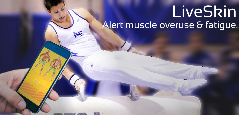 Alert muscle overuse fatique wearable LiveSkin RSI