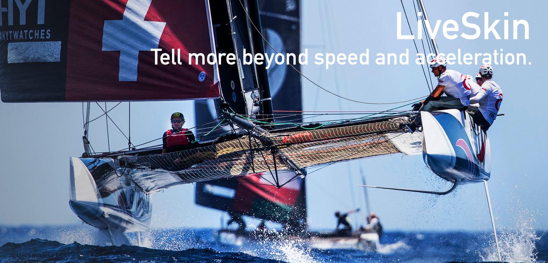 LiveSkin wearable force momentum speed acceleration sailing sansible
