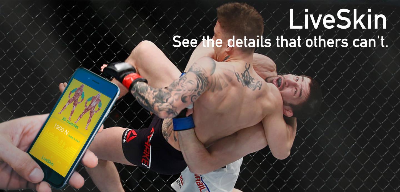 LiveSkin UFC boxing wearable technology punch force gloves tracker